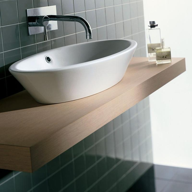 Lavoar oval pe mobilier hatria happy hour marmit for Mobilier wc
