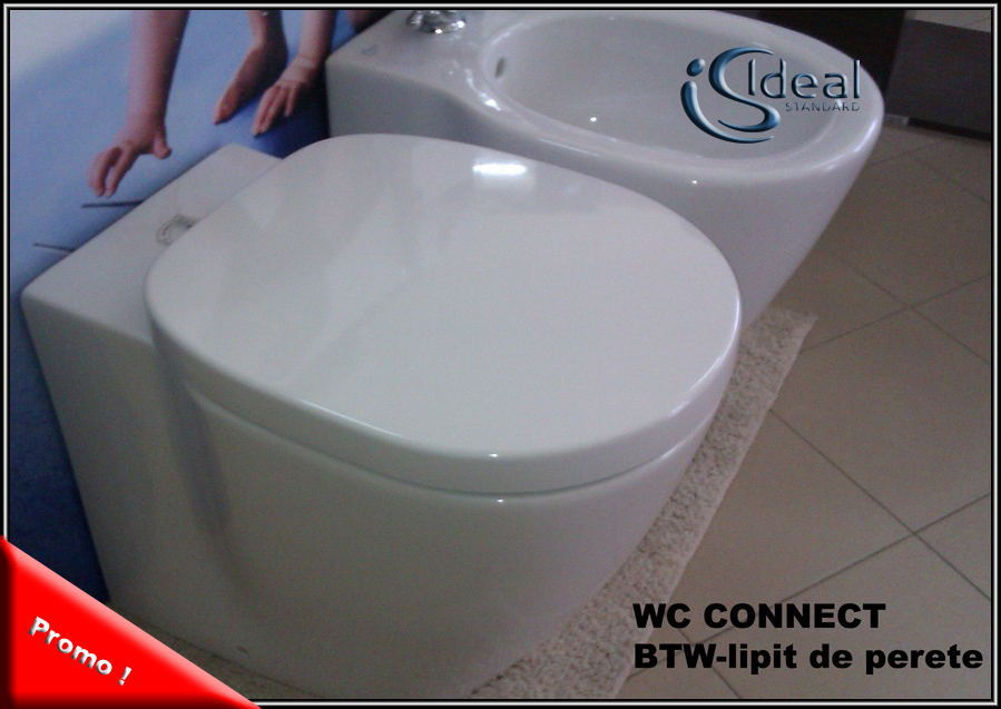Wc stativ Connect lipit de perete cu capac soft-close