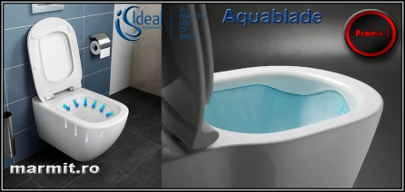 Wc suspendat Tesi AquaBlade cu capac slim soft-close