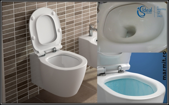Wc suspendat Connect Aquablade cu capac soft-close