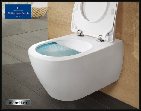 Wc suspendat Subway 2.0 Direct Flush cu capac soft-close inclus